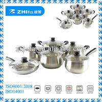 12pcs stainless steel cookware set/kitchen ware