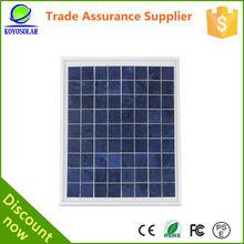 CE ROHS certificate 15 watt efficiecny poly solar panel kit