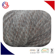 Blended with nylon super kid mohair napping yarn for machine knitting