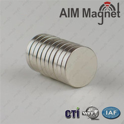 Super Strong 10mm Disc Type Neodymium Permanent Magnet Price