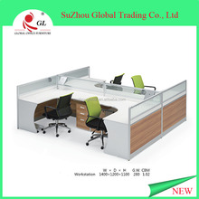 Modern design cubicle office workstation for 4 people