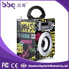 2015 best design mini portable speaker bluetooth with usb sd