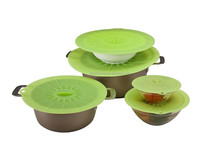 Reusable Silicone Suction Covers and Bowl Lids 5pcs microwave bowl set
