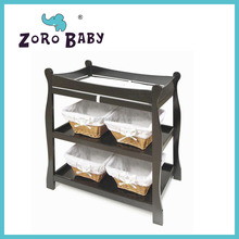 Black Sleigh Diaper Changing Table - Baby Center