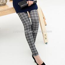 Clássico grade estilo de calças para senhora, foto sexy hot leggings para mulheres maduras