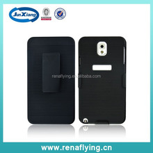 plastic mobile phone cases for samsung note 3 with inner brushed texture bright surface