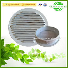 Aluminum Round Waterproof Exhaust Wall Air Vent Grille Cover with Mesh