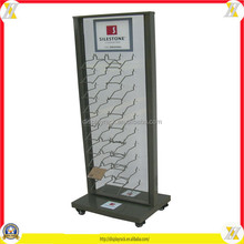 metal flooring stand ceramic tile display rack stand