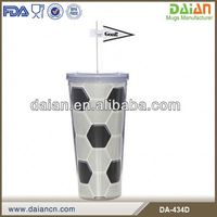 Brazil World Cup 2014 football fans Souvenir Insulated cup