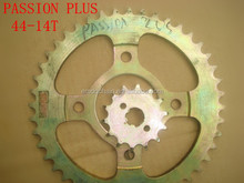Passion Plus 44 14T New India Model Motorcycle Chain and Sprocket Kits