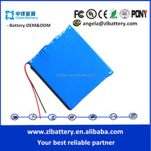 li ion battery 7.4v 1000mah thin lithium battery lithium battery 7.4v