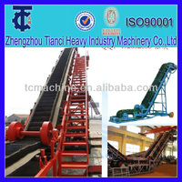 2014 new design large inclination belt conveyor for antimony ore