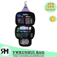 New Hot travel men bags mesh hanging cosmetic toiltery bag black