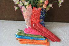 Chinese silk hand fan bag as gift pouch or packing for promotion