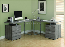 2015 new design corner taupe l-shaped office desk
