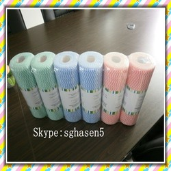 [FACTORY] Viscose and Polyester household wiping cloth,reusable spunlace nonwoven wipes,Shouguang Kaixuan Clean wipe