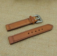 2015 new fashion high quality leather watch strap with color stitching