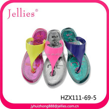 latest design rubber shoes ladies flip flop slippers crystal pvc shoes
