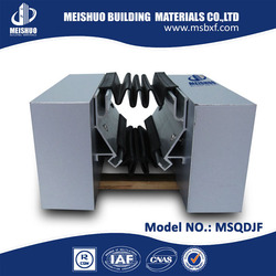 Metal rubber expansion joints for concrete in building