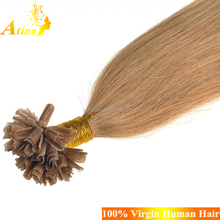 High Quality 100% Human Factory Wholesale Price Pro Bonded Remy U Tip Keratin Human Hair Extensions