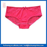 Rose Color Lace Women Brief Lingerie 043