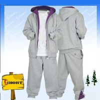 Polyester/cotton fashion warm tracksuit