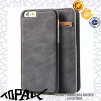 Luxury magnet detachable wallet style flip leather phone case for iphone 6/6plus