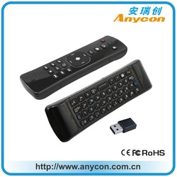 2.4G Remote Control Qwerty Wireless Keyboard+Air Fly Mouse+RF Remote Control For Android TV Box,PC