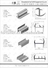 linear PVC profile door sealer