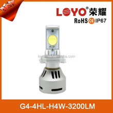 Adjustable H4 80W 3200lm Auto/Car Super Bright High Power LED Headlight