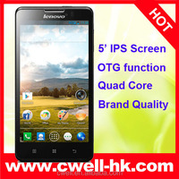 China Original Lenovo P780 Russian WCDMA mobile phone in China MTK6589 smartphone wholesale