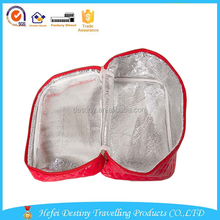China wholesale big size PU square cosmetic bags cases