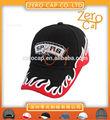 2014 moda 3d venta al por mayor bordado gorra de béisbol sombreros