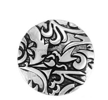 20MM silver garden of Eden snap button charms for snap bracelets