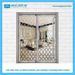 New design glass sliding door for metal cabinets