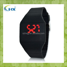 Promotional cheap adult kids Colorful Soft silicone Led Touch watch