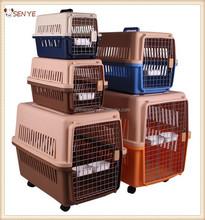 Portable plastic pet cage, pet airline carrier, dog flight case
