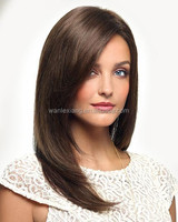 luxuriously long,100% human hair double layer wig with a lace front.
