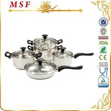 Bakelite handle functional cookware pots & pans stainless steel kitchenware