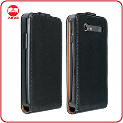 For Samsung Galaxy S Advance Cover Case,Black Leather Flip Type