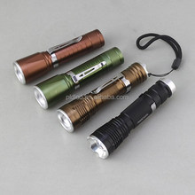 High Power Zoom in/Zoom out 18650 Rechargeable Penclip Pocket Led Flash Light