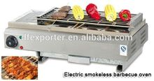 Oven inside big electric BBQ Grill outdoor cooking