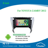 2 din 8 inch Android 4.4 Car DVD player for TOYOTA CAMRY 2012 with Radio GPS BT wifi 3g, support DVR