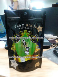 Stand up food grade plastic packaging bags for peanuts nuts dry fruit