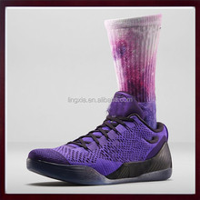 Brand Designer Factory Price Custom Design Men Tie Dye Polyester Sublimation Sock, Polyester basketball sublimated socks