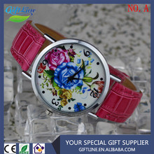 GIFTLINE 2015 Fashion New Woven Watches Ladies Printing Floral Watch