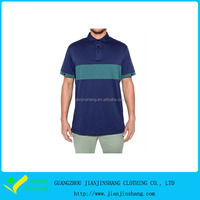 High Quality OEM Designed Color Blocked Short Sleeve Mans Golf Polo T Shirts