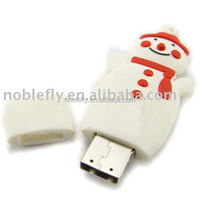 high speed reading and writing snowman shape usb pen drives