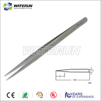 beauty field eyelash extension tweezers with sharp point china factory