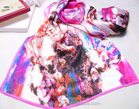 digital printing silk scarf one piece girls party dresses Tongshi supplier alibaba china